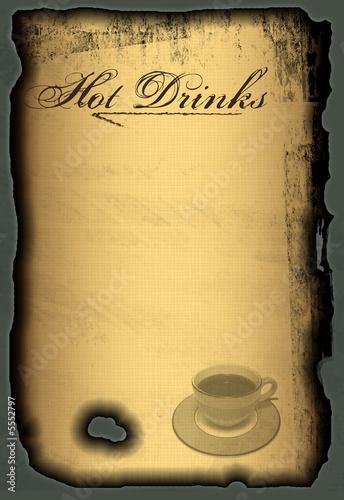Speisekarte Kaffekarte