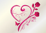 Valentinstag Herz Brilliant Rosen poster