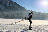 Nordic-skating woman 1 poster