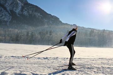 Nordic-skating woman 1