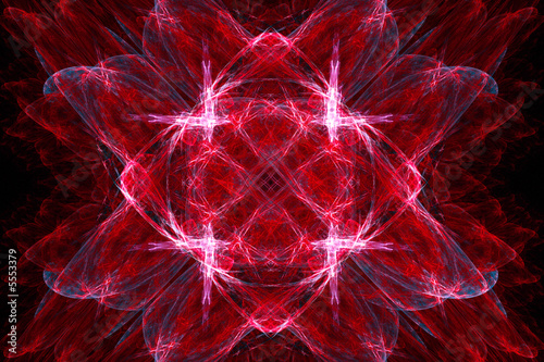 Beautiful red crystal background over black
