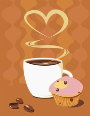 Coffe and muffin