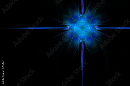 Abstract star background made of blue color over black