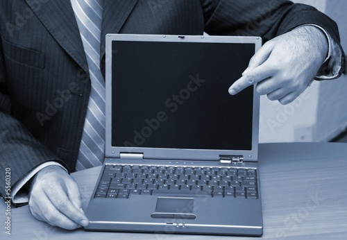 Presenting the new laptop