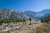 Trekking in mountains poster
