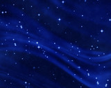 a nice blue star field of bright and shining stars poster