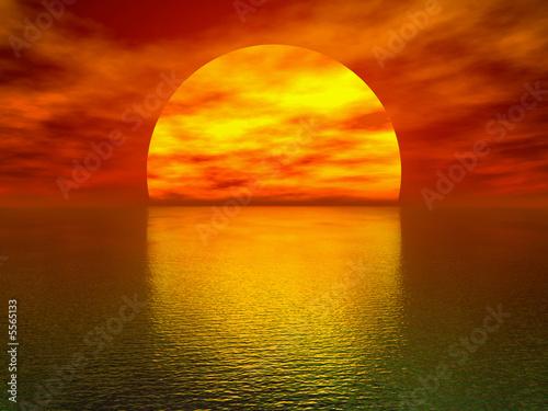beautiful sunset wallpaper. Beautiful sunset over the sea