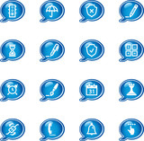 bubble software icons poster