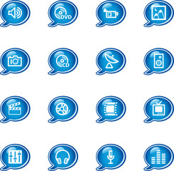 bubble media icons