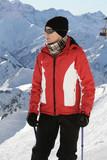 Nordic walking in winter 2 poster