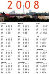 Kalender mit Berlin panorama / Calendar with Berlin panorama