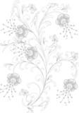 Outline flower decoration poster