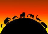 safari with wild animals poster