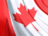 Glossy Flag of Canada poster