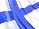 Glossy Flag of Finland poster