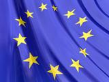 Glossy Flag of European poster
