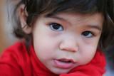Adorable toddler. Part asian, scandinavian background. poster