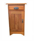 A Wooden Bedside Cabinet isolated with clipping path poster