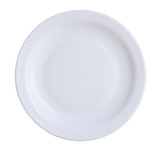 empty plate isolated on a white background poster