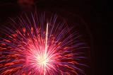 Fireworks Bursting up poster