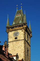 The Tower of the astronomical clock in Prague