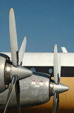 vintage airplane engines and propellers poster