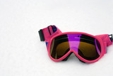 Hot Pink Ski Goggles in Snow poster