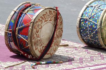 gruppo musicisti locali in Marocco