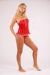 Leinwanddruck Bild - blondine mit langen Beinen