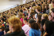 Leinwanddruck Bild - High school assembly, audience