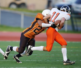 High school football tackle
