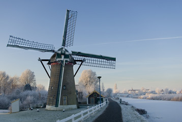 Dutch Mill in winter