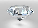 Fototapety Diamond rendered with soft shadows. High resolution 3D image