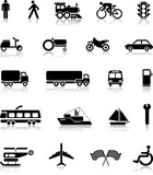 Fototapety Collection of transportation silhouettes