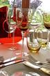 Tisch Dekoration in Luxusrestaurant