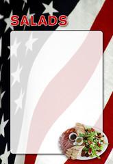 Speisekarte amerikanisch Salat