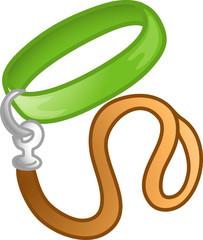 Illustration of a pet collar icon
