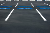 Empty parking lot - freshly painted surface poster