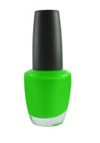 green fingernail polish isolated  poster