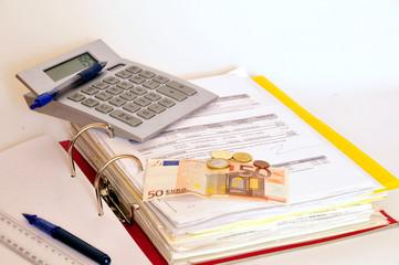 Finanzen Geld Taschenrechner