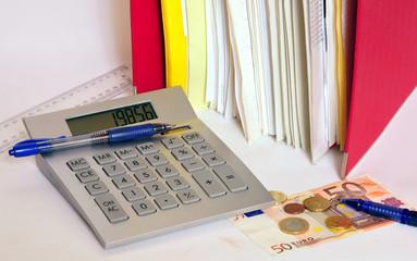 Finanzen & Geld & Taschenrechner