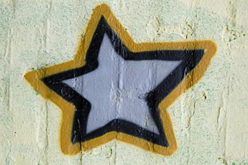 Graffiti on the wall star
