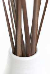 vase with dried grass