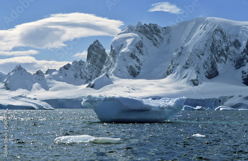 Papiers peints Pôle Icebergs in bay