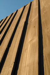 timber garden fence panel abstract