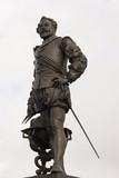 Statue of Sir Francis Drake on Plymouth Hoe, Devon, England poster