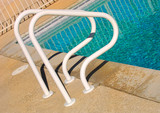Image of a common Poll Ladder By the pool poster