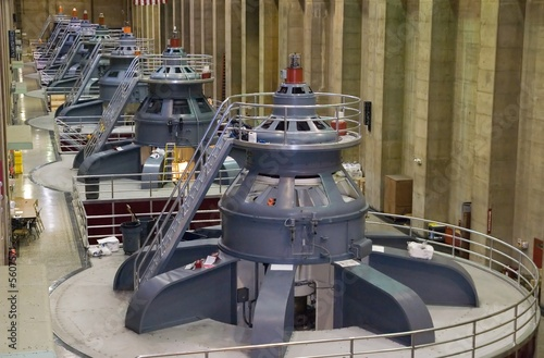 Seven power generators at Hoover Dam - 5607571