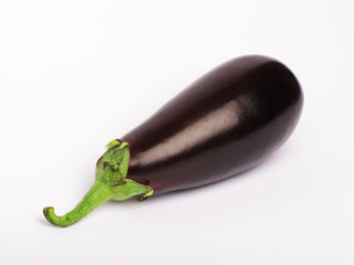 An isolated eggplant vegetable