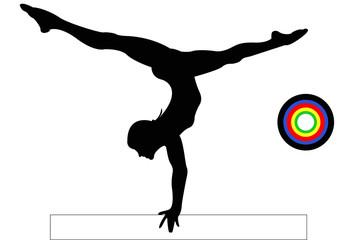 Olympics Gymnastics Balance Beam Female
